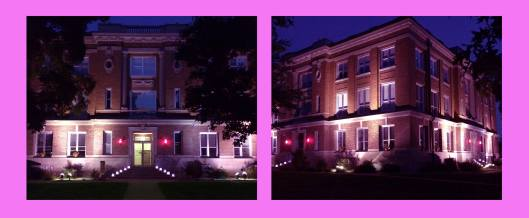 Christian County Court House in Pink